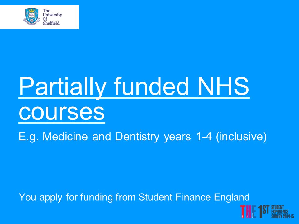 Partially funded NHS courses E.g.