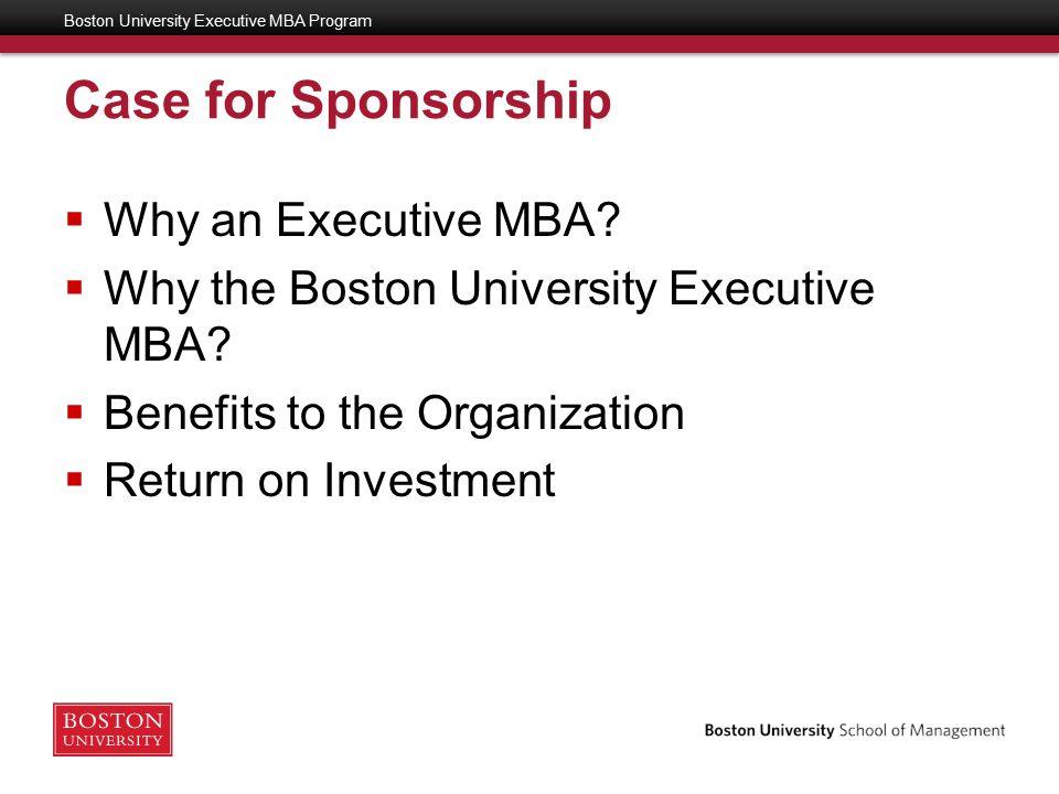Why Do I Want an Executive MBA.