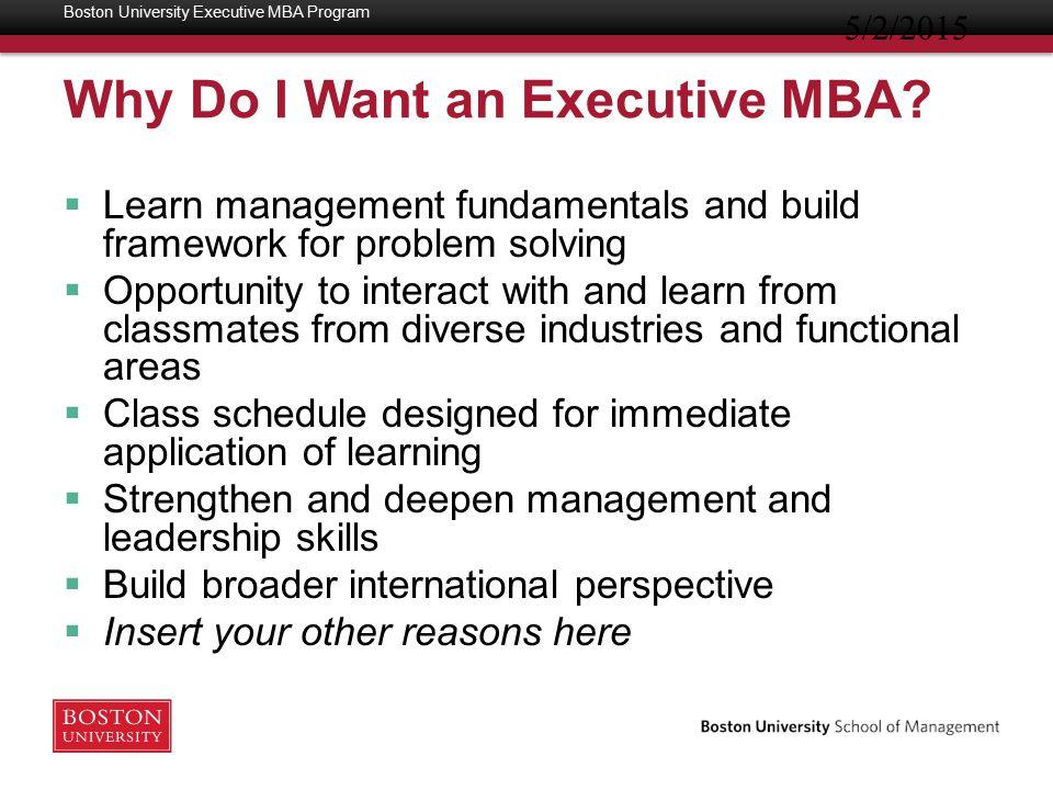 Executive MBA vs.