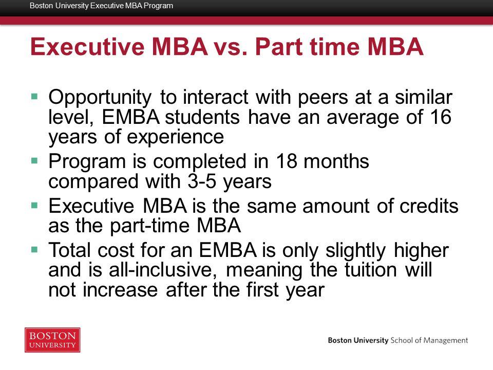 Additional Information as needed Boston University Executive MBA Program