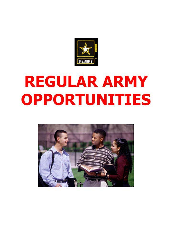 REGULAR ARMY OPPORTUNITIES