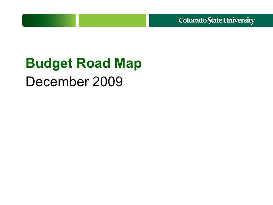 Budget Road Map December 2009