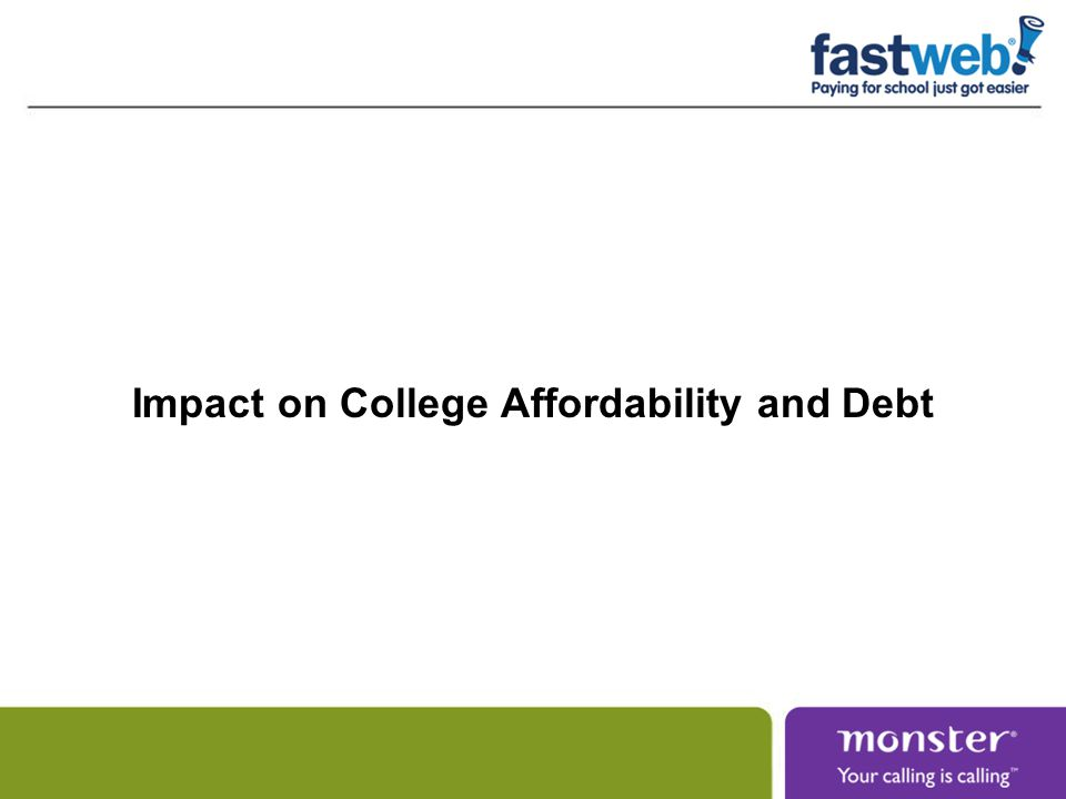 Impact on College Affordability and Debt