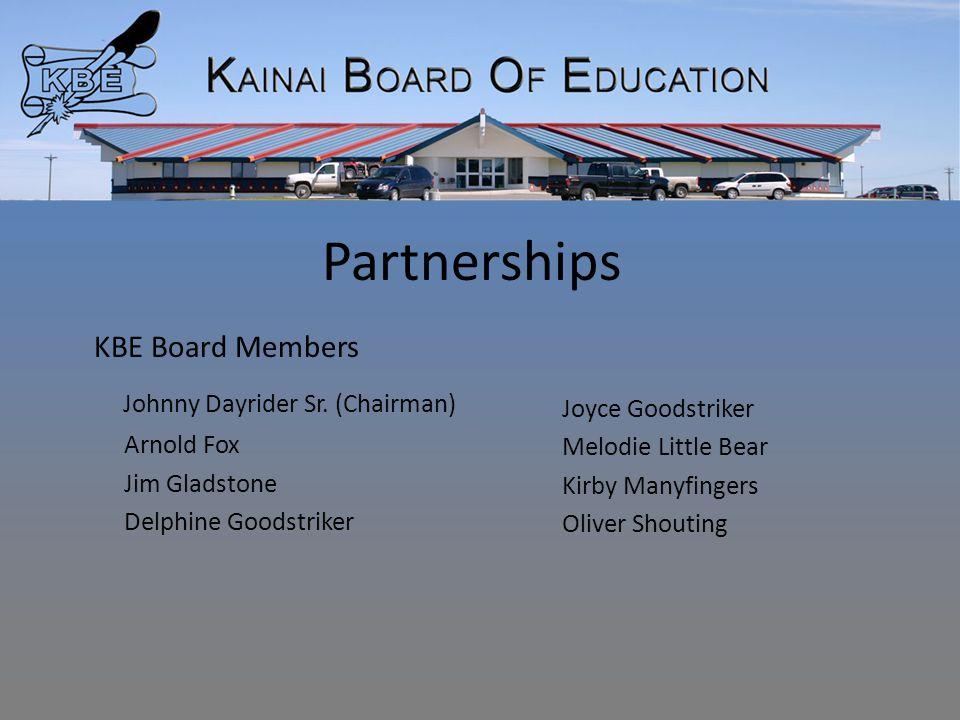 Partnerships KBE Board Members Johnny Dayrider Sr.