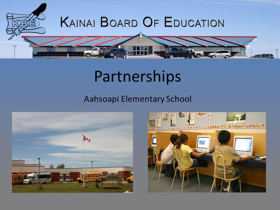 Partnerships Aahsoapi Elementary School