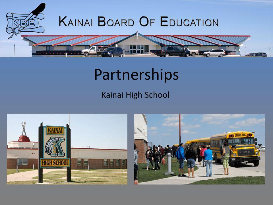 Partnerships Kainai High School