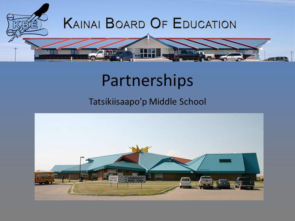 Partnerships Tatsikiisaapo'p Middle School