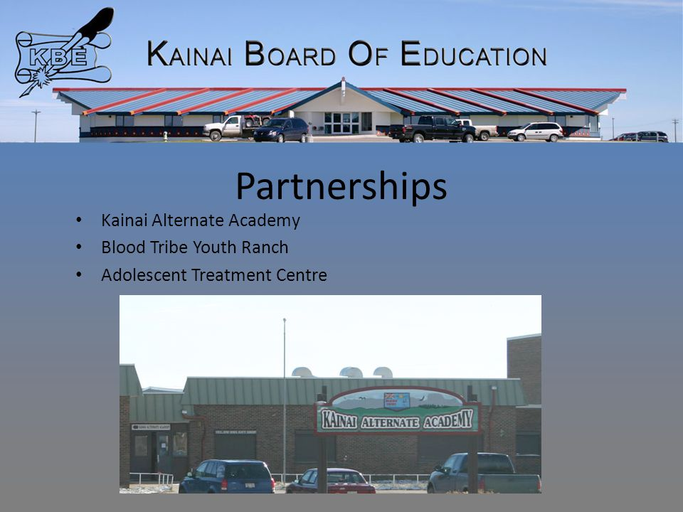 Partnerships Kainai Alternate Academy Blood Tribe Youth Ranch Adolescent Treatment Centre