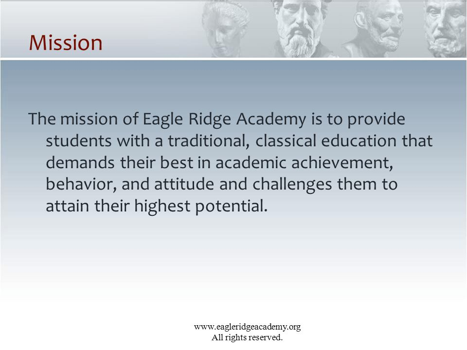 www.eagleridgeacademy.org All rights reserved.