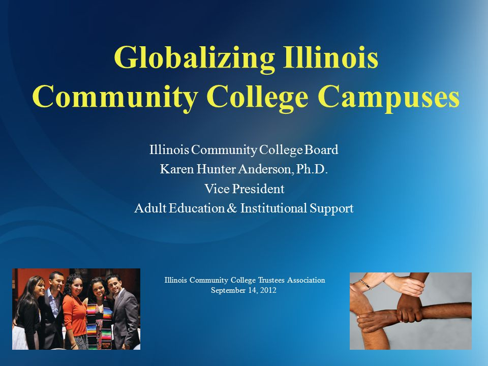 Globalizing Illinois Community College Campuses Illinois Community College Board Karen Hunter Anderson, Ph.D.