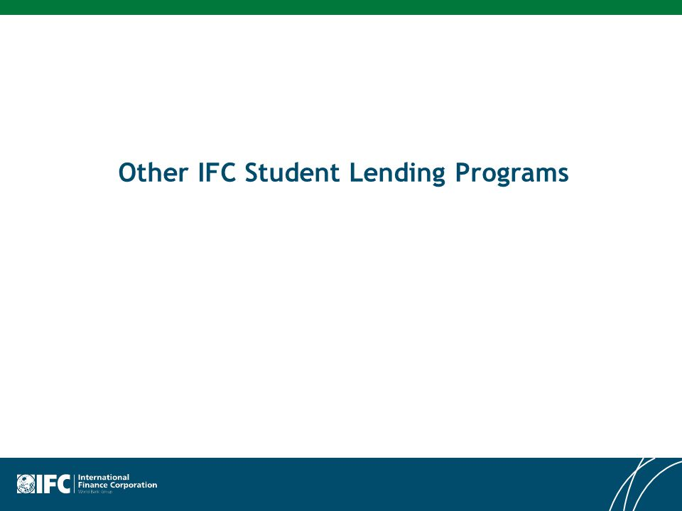 Other IFC Student Lending Programs
