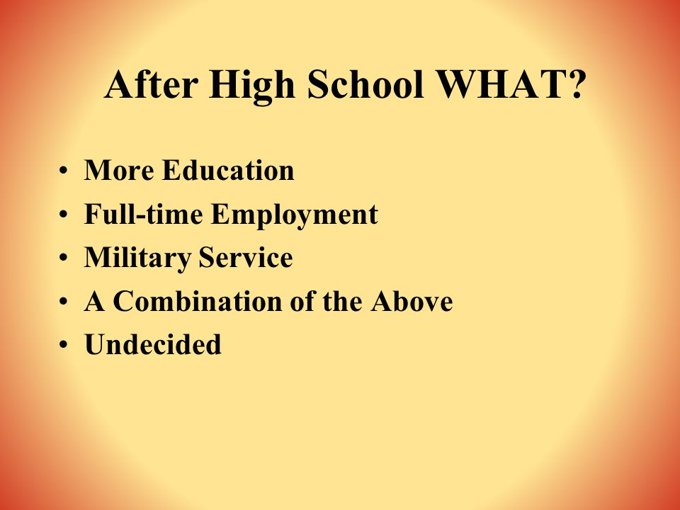 What about Post-Secondary Education Options?