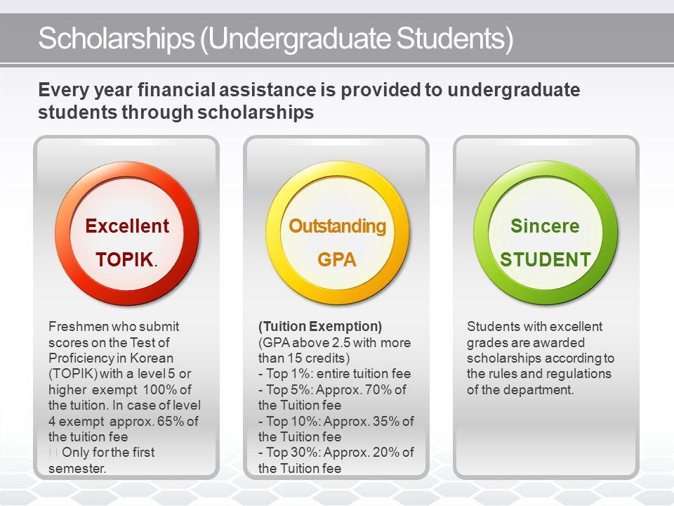 Scholarships (Undergraduate Students) Excellent TOPIK.