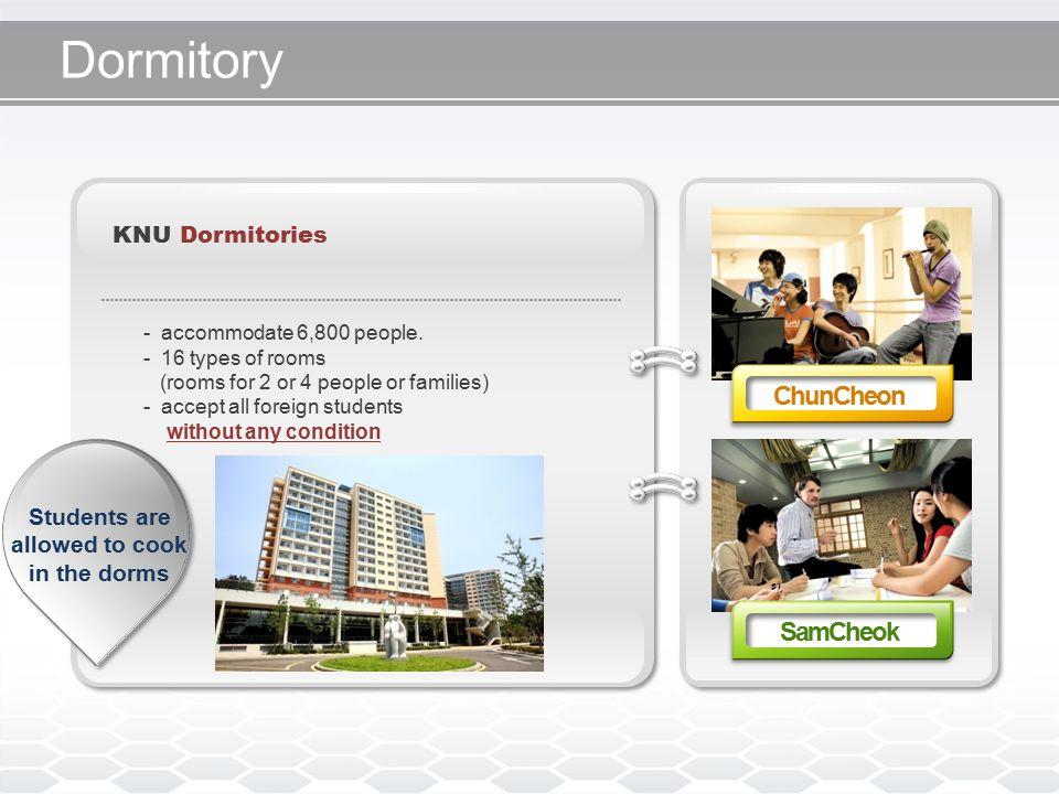 Dormitory KNU Dormitories - accommodate 6,800 people.