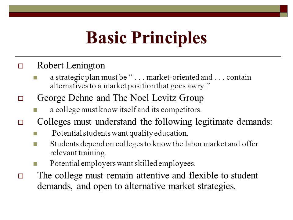 Basic Principles  Robert Lenington a strategic plan must be ...