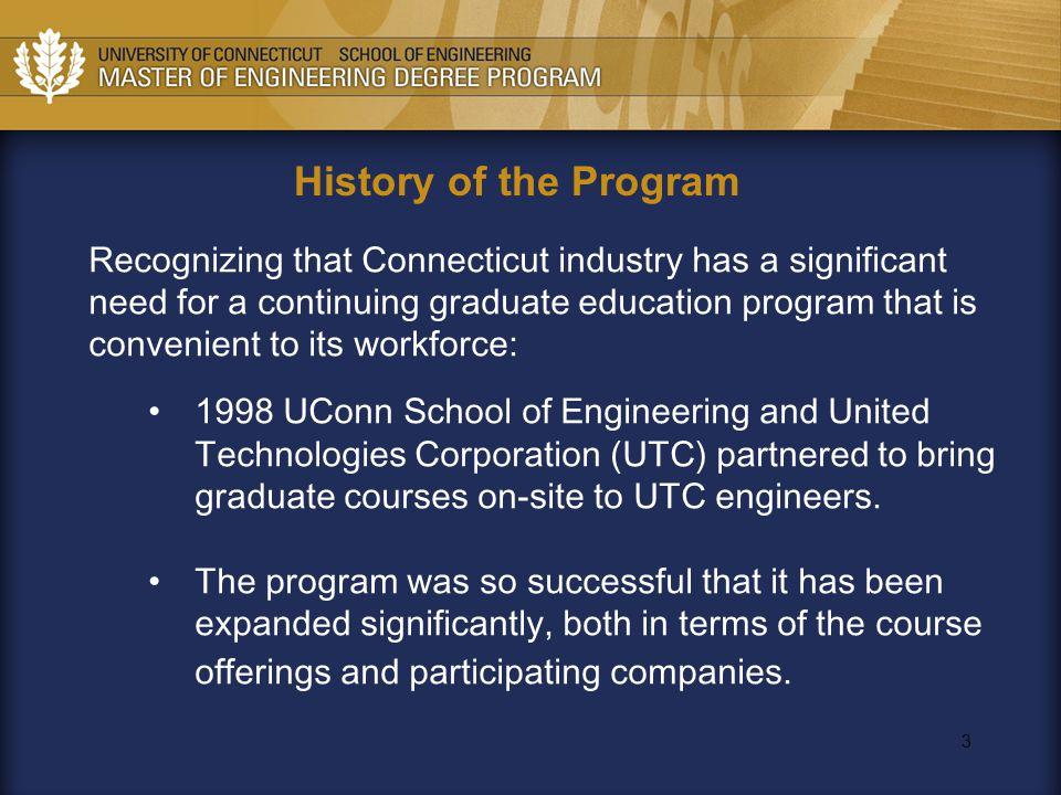 4 History of UTC-UConn Program Since Inception [1999] 307 students taking 1 or more courses –58 UTC Fuel Cells [Chem Eng] –37 Hamilton, Otis, UTRC –208 P&W Students [M.E., M.M.A.T] 197 M.S.