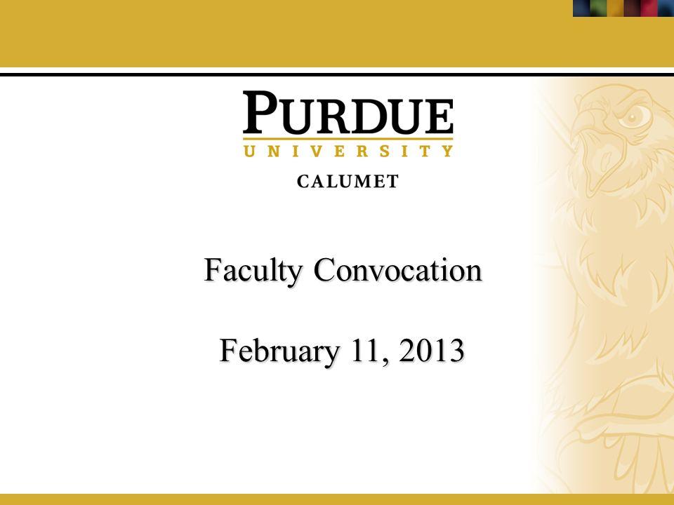 Faculty Convocation February 11, 2013