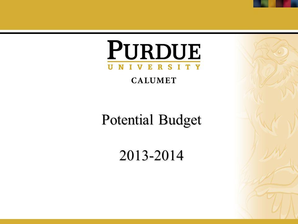 Potential Budget 2013-2014