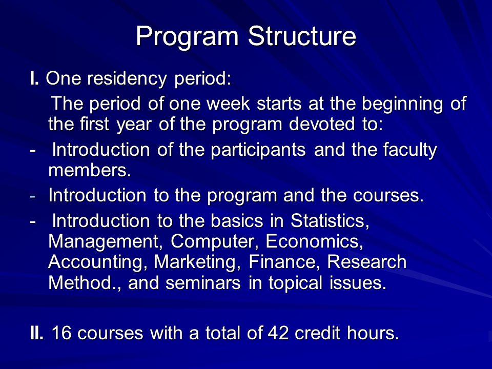 Program Structure I.