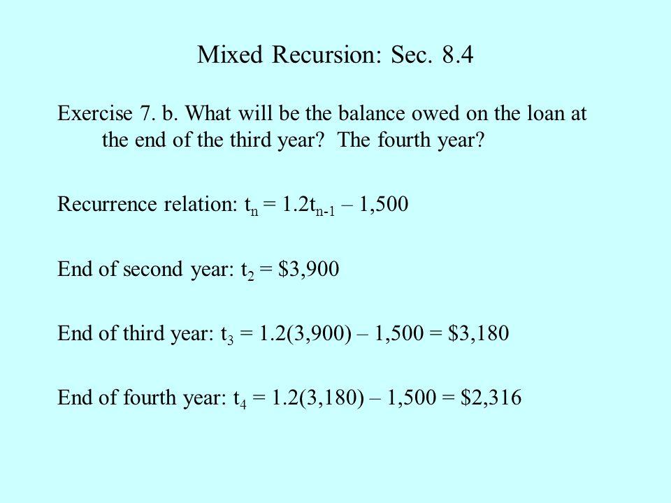Mixed Recursion: Sec.8.4 Exercise 7. b.
