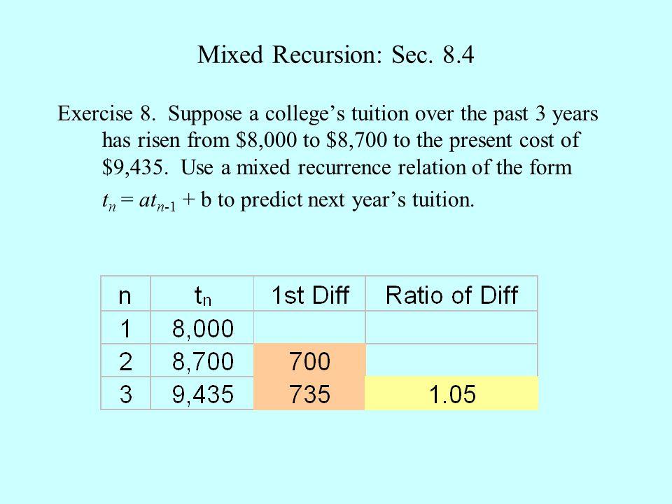 Mixed Recursion: Sec.8.4 Exercise 8.