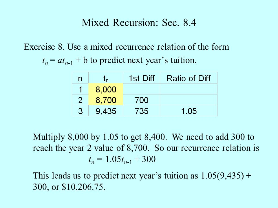 Mixed Recursion: Sec. 8.4 Exercise 8.