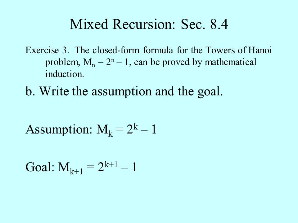 Mixed Recursion: Sec. 8.4 Exercise 3.