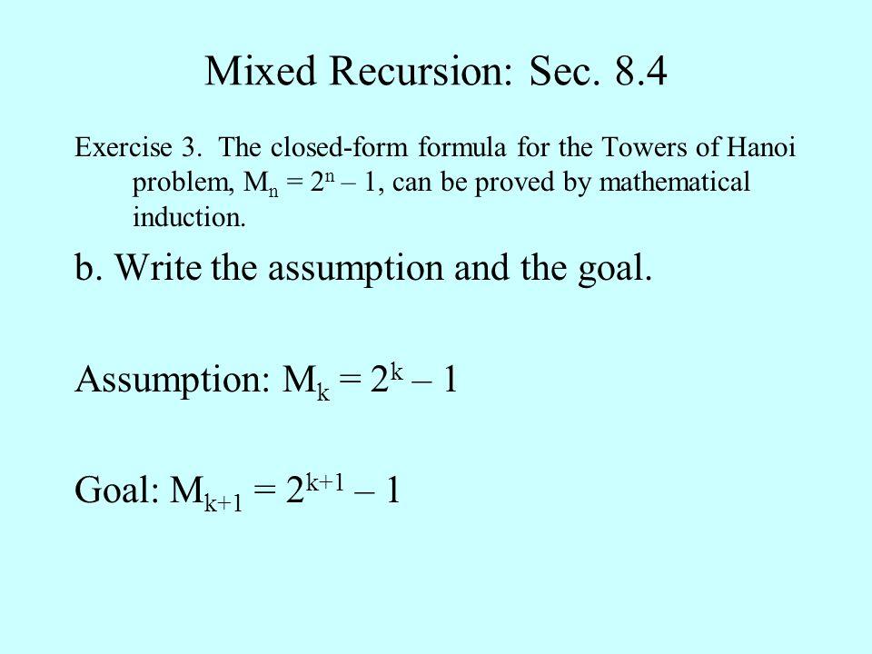 Mixed Recursion: Sec.8.4 Exercise 3.