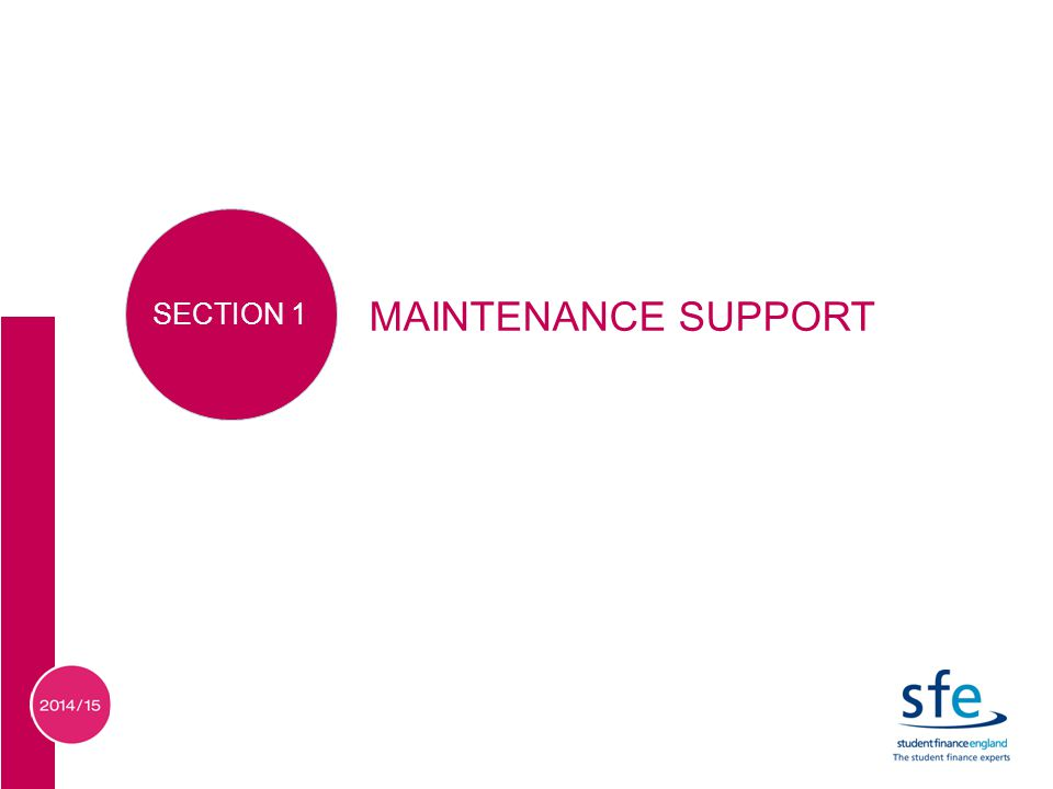MAINTENANCE SUPPORT SECTION 1