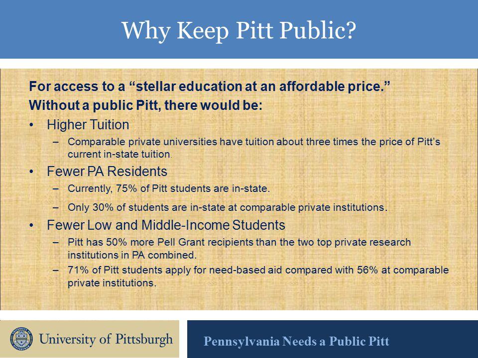Why Keep Pitt Public.