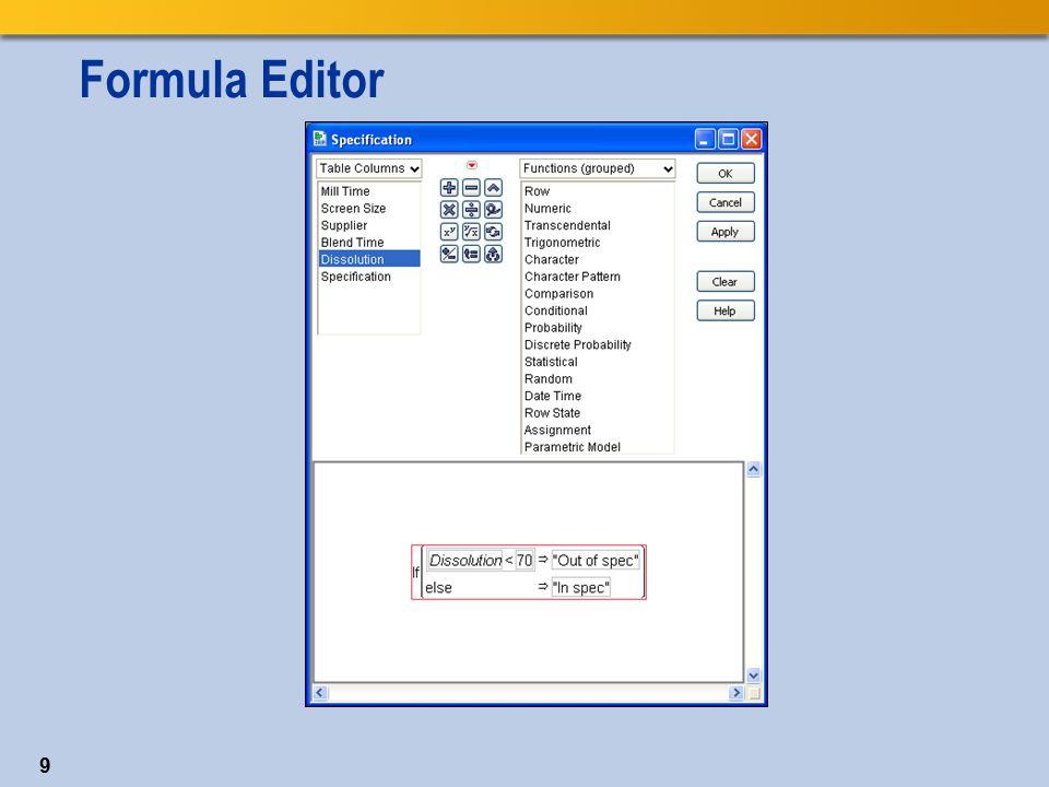 Formula Editor 9