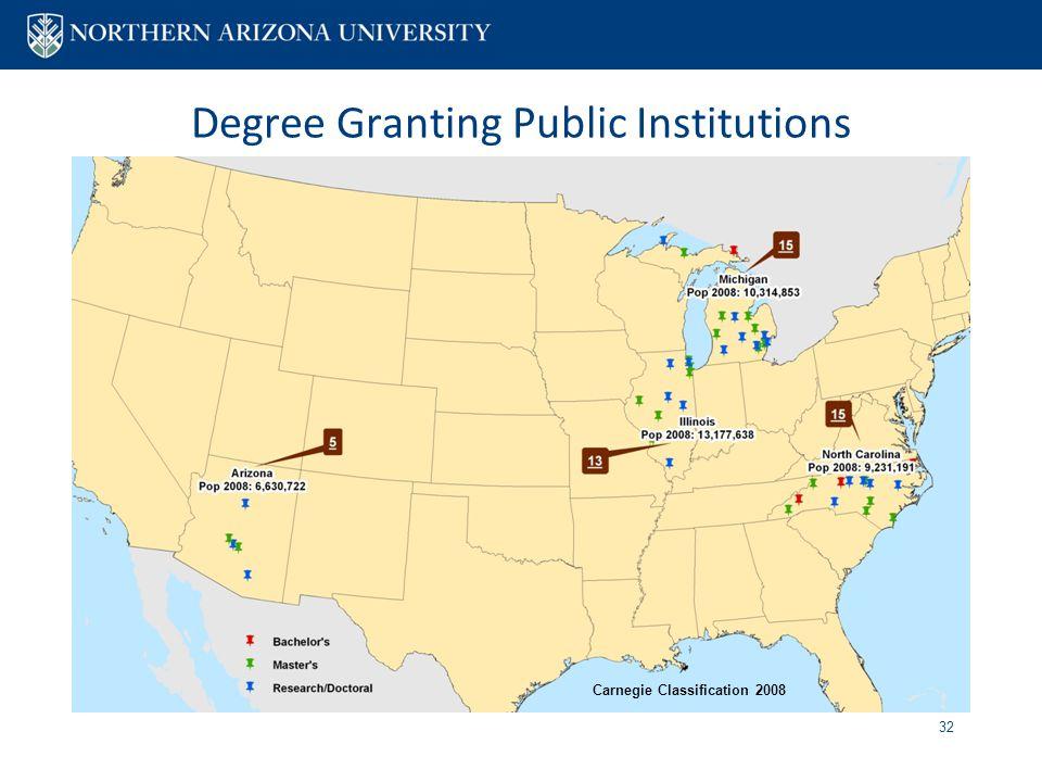Degree Granting Public Institutions 32 Carnegie Classification 2008