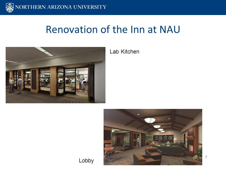 Renovation of the Inn at NAU 7 Lab Kitchen Lobby