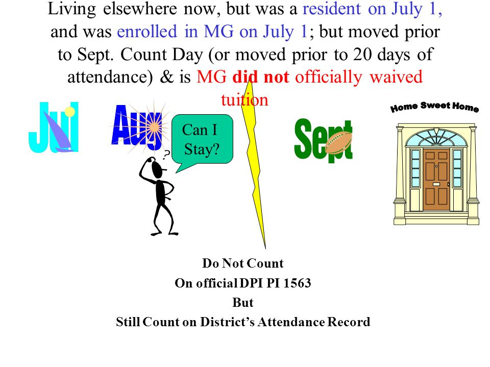 Do Not Count On official DPI PI 1563 But Still Count on District's Attendance Record Can I Stay.