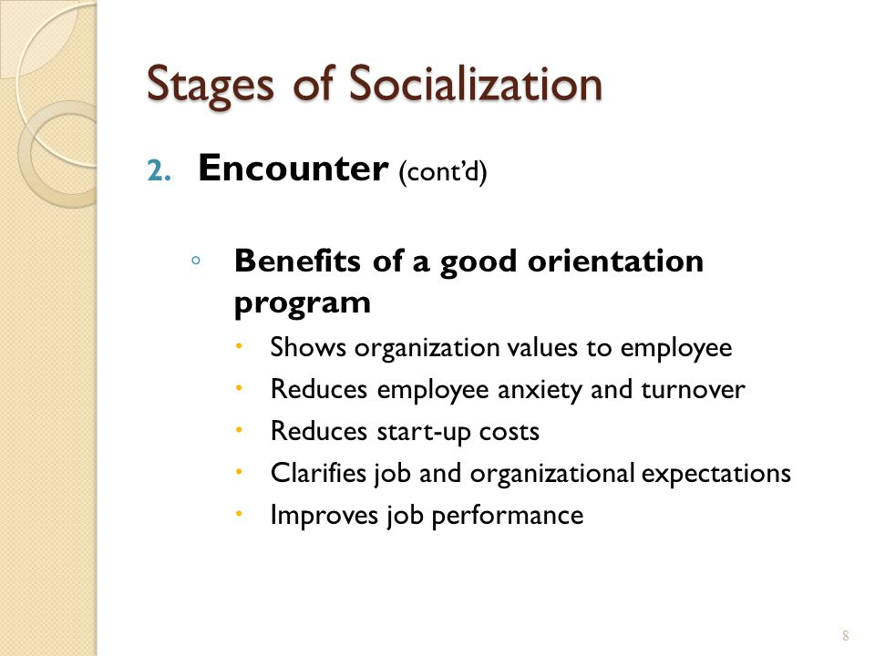 9 Stages of Socialization 3.