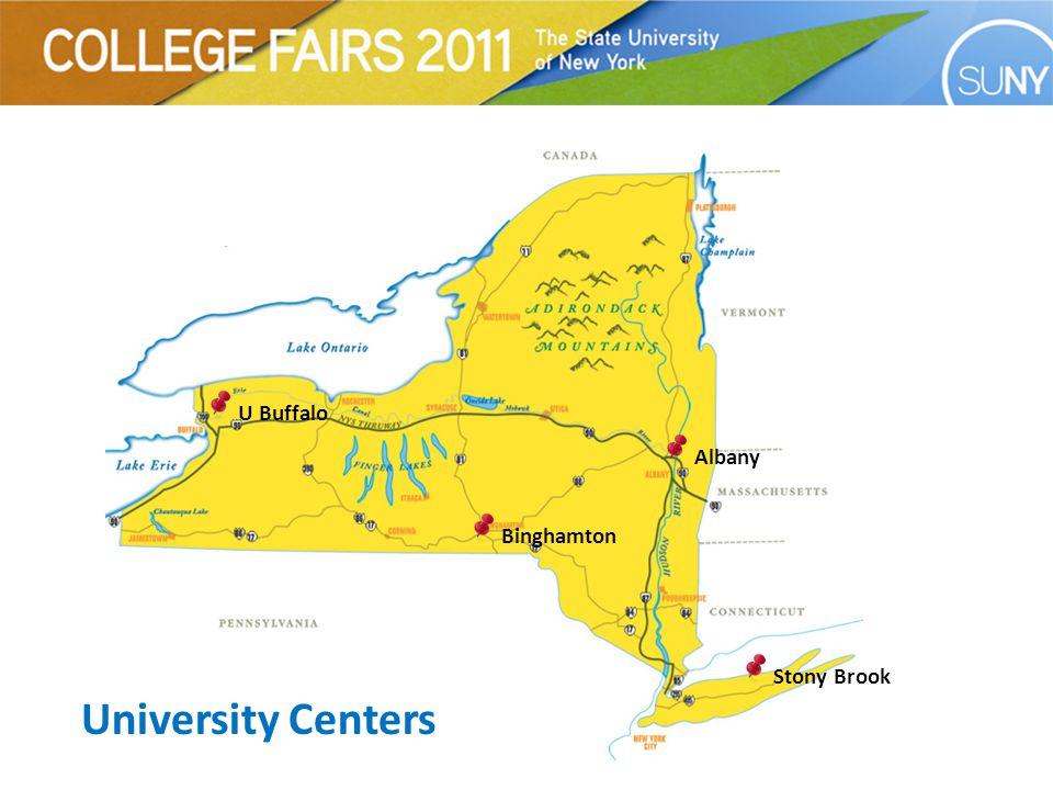 Albany U Buffalo Binghamton Stony Brook University Centers