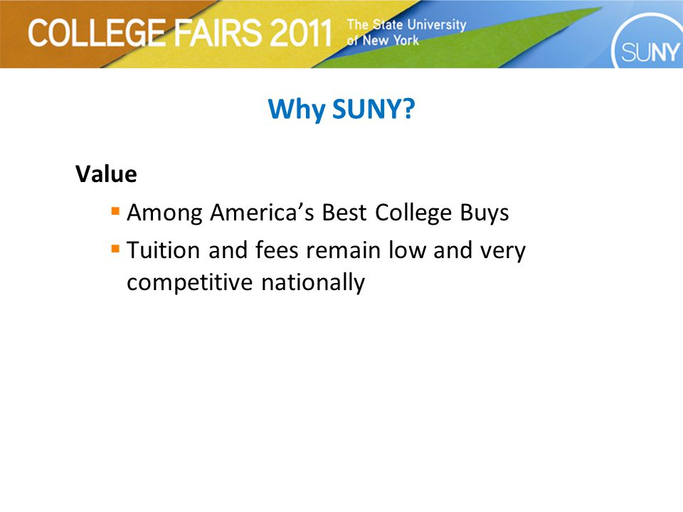 SUNY Campus Types  University Centers and Doctoral Degree Granting Institutions  University Colleges  Technology Colleges  Community Colleges