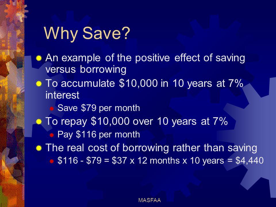 MASFAA Why Save.