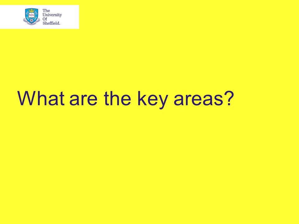 What are the key areas