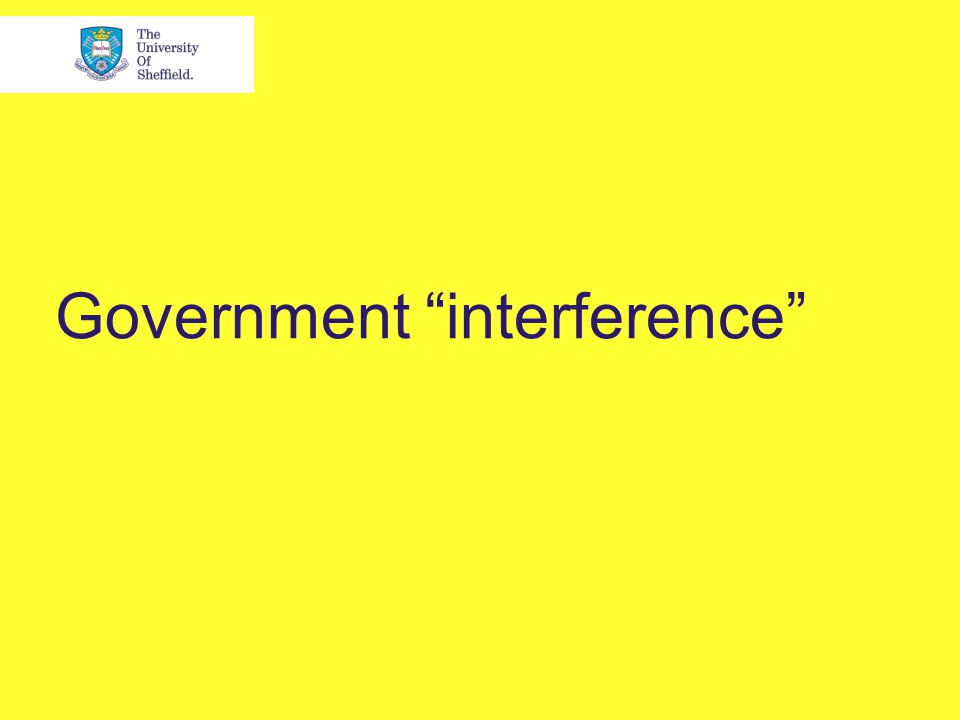 Government interference