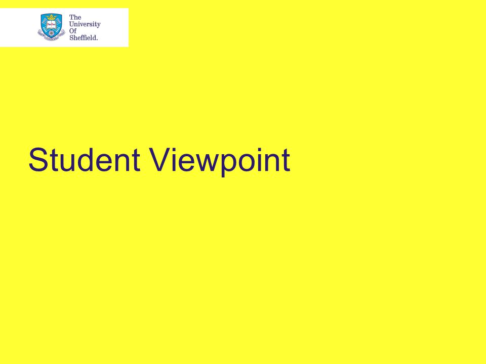 Student Viewpoint