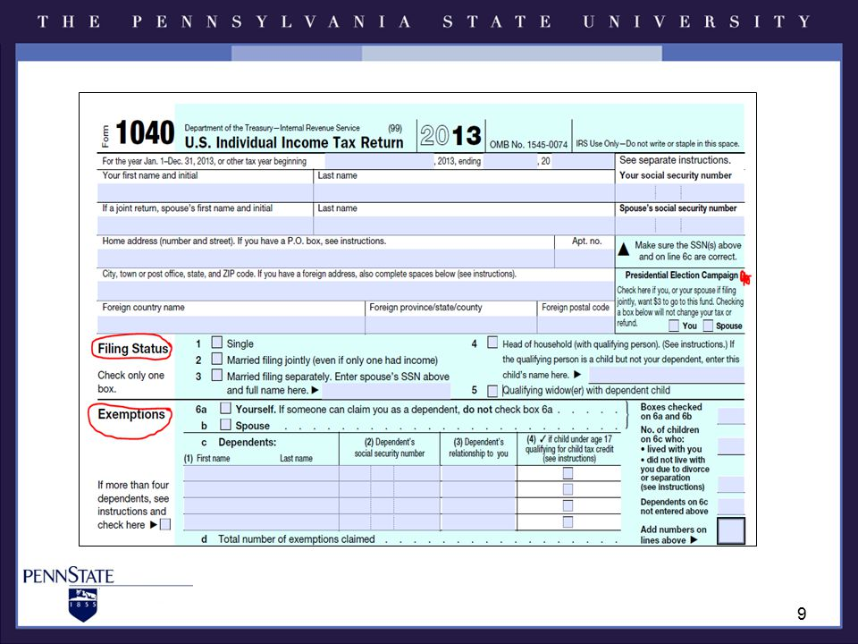 Income-Line 7 W-2 income –Various styles of w-2s –Read each carefully.