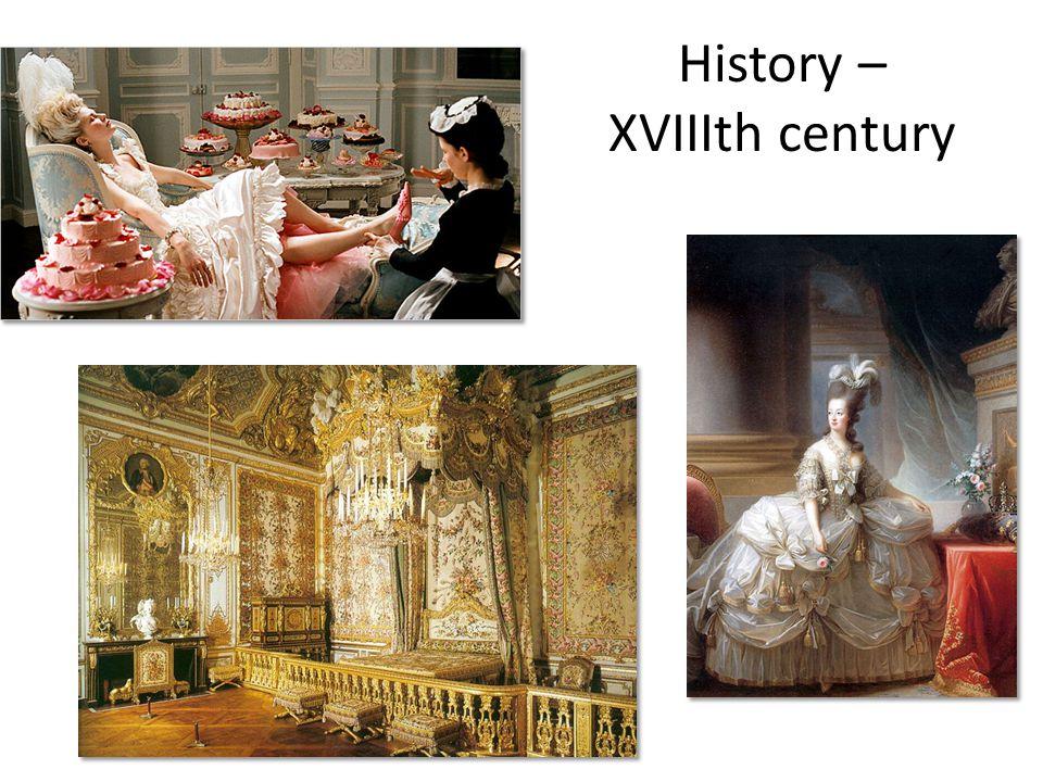 History – XVIIIth century
