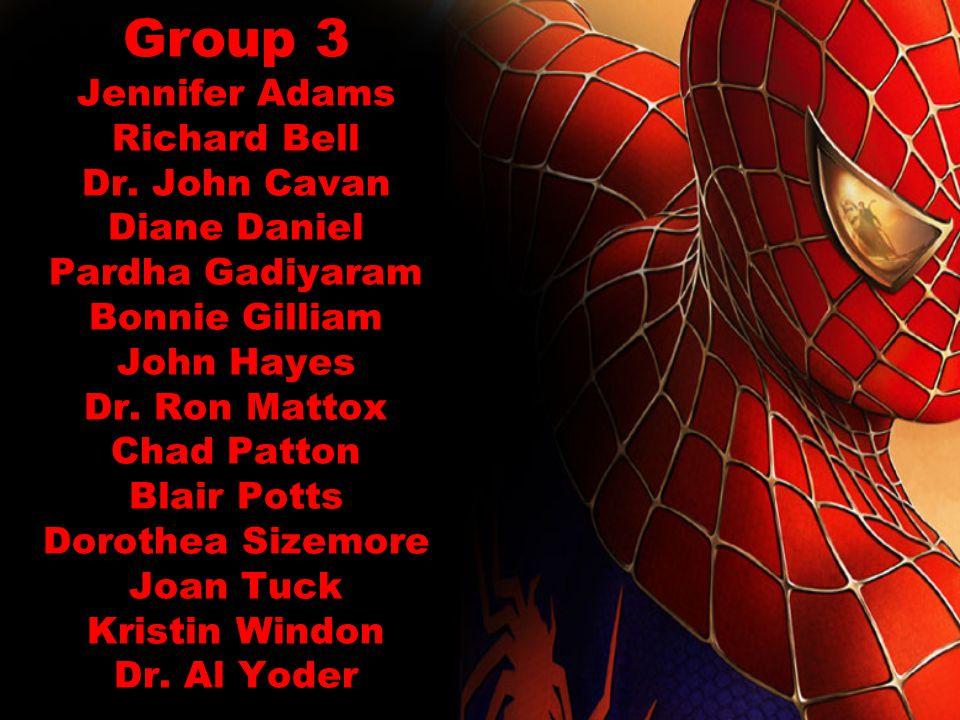 Group 3 Jennifer Adams Richard Bell Dr.