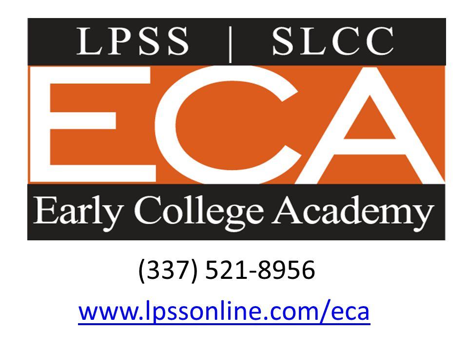 (337) 521-8956 www.lpssonline.com/eca
