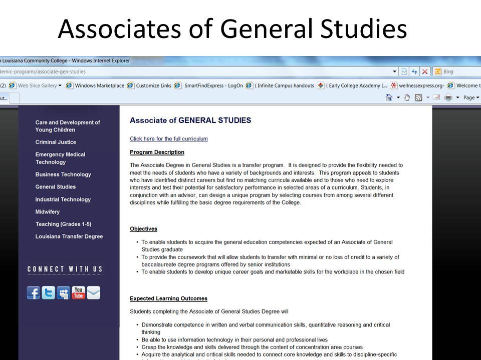 Associates of General Studies