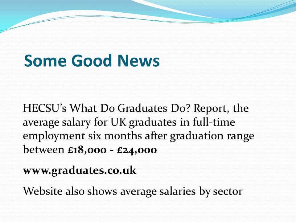 Some Good News HECSU's What Do Graduates Do.