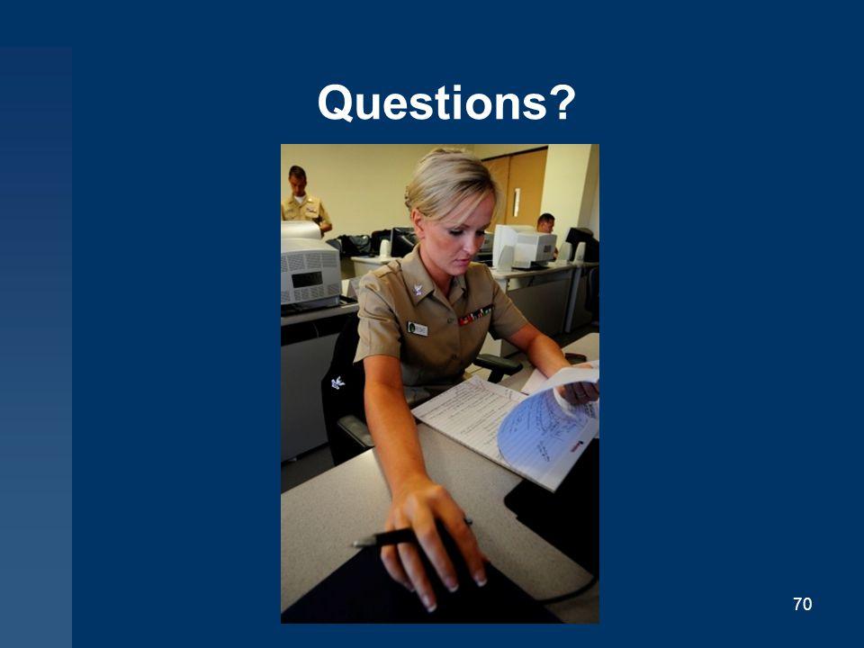 Questions? 70