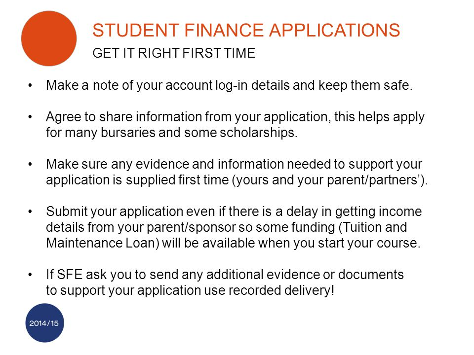 Make a note of your account log-in details and keep them safe. Agree to share information from your application, this helps apply for many bursaries a