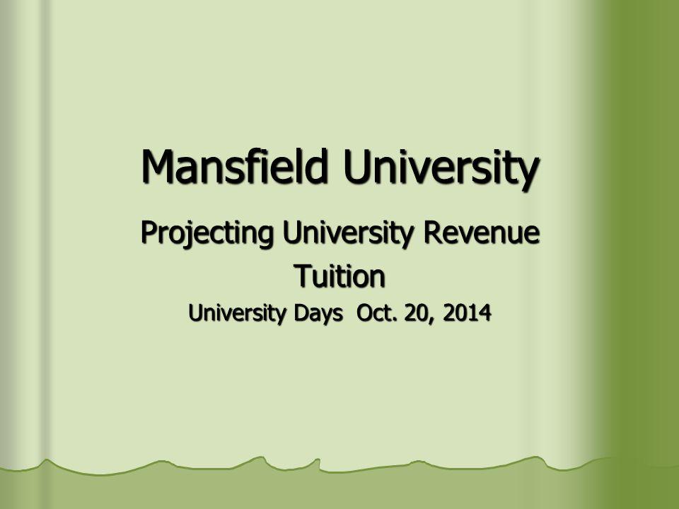 Future Budget Presentations Revenue - How do we project revenue.